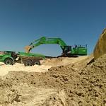 Excavator and ADT