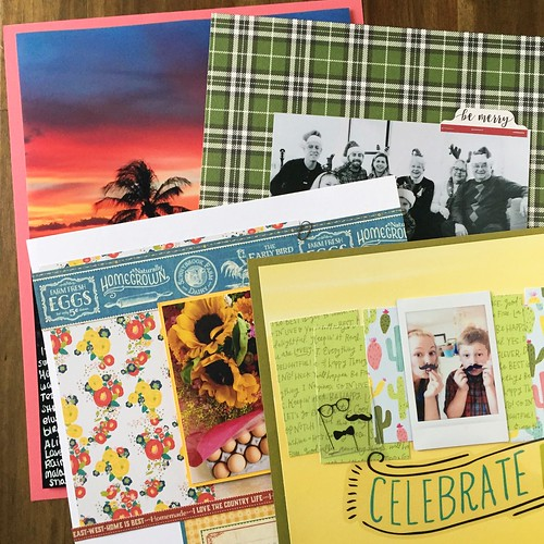Recent scrapbook layouts