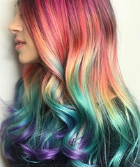 Have you been thinking about going unicorn?   This is absolutely majestic!by @rebeccataylorhair