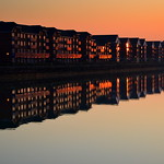 Sunset Reflections at Preston Docks