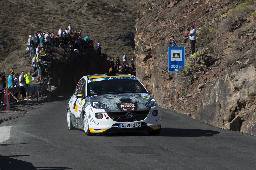 40 VAN DE R MAREL Timo (NLD), NA DER MAREL Rebecca (NLD), OPEL ADAM R2, Action during the 2017 European Rally Championship ERC Rally Islas Canarias, El Corte Inglés,  from May 4 to 6, at Las Palmas, Spain - Photo Gregory Lenormand / DPPI