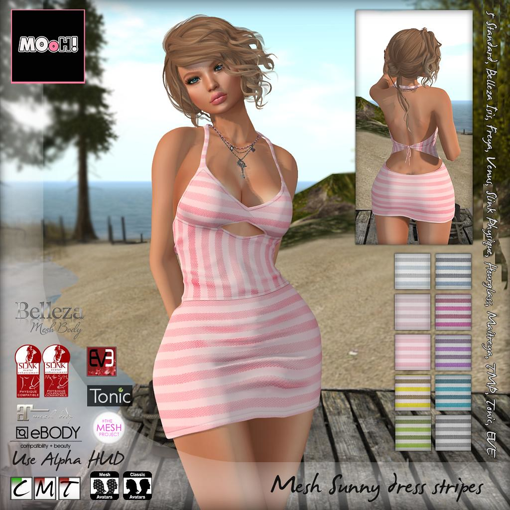 Sunny dress stripes - SecondLifeHub.com