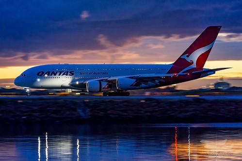 mascot newsouthwales australia au qantas qf airbus a380 syd yssy sydneyairport