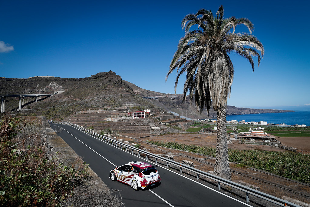 05 LUKYANUK Alexey (RUS), ARNAUTOV Alexey (RUS),  Ford Fiesta R5 Action during the 2017 European Rally Championship ERC Rally Islas Canarias, El Corte Inglés,  from May 4 to 6, at Las Palmas, Spain - Photo Alexandre Guillaumot / DPPI