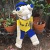 Crochet Jeffy the puppet.  #yochetcrochet #yochetdolls #hechoamano #handmade #ganchillo #jeffythepuppet #crochetjeffythepuppet #redheartyarn
