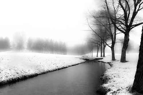 eskolanmäki kouvola lunta pentsoja park snow water spring finland blackandwhite bw nikon nikonphotography df