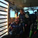 The ride to altitude with experienced skydivers