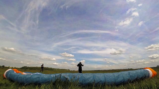 Paralotnia tuż przed startem