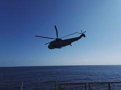 """SH-3D """"Sea King"""" next to ESPS Galicia"""