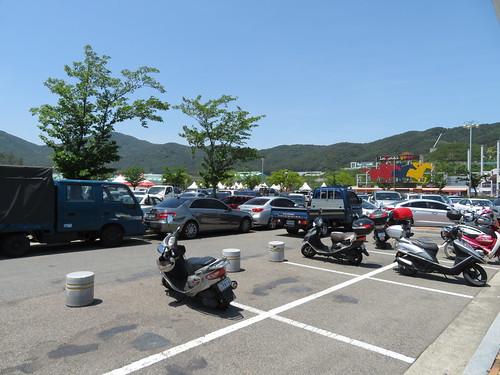 釜山慶南競馬場の駐車場
