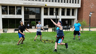 Students Play Spikeball:  May 8, 2017