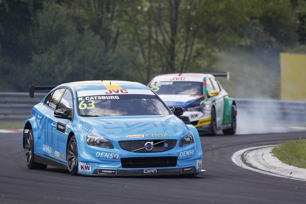 63 CATSBURG Nicky (ned), Volvo S60 Polestar team Polestar Cyan Racing, action   during the 2017 FIA WTCC World Touring Car Race of Hungary at hungaroring, Budapest from may 12 to 14 - Photo Frederic Le Floc'h / DPPI