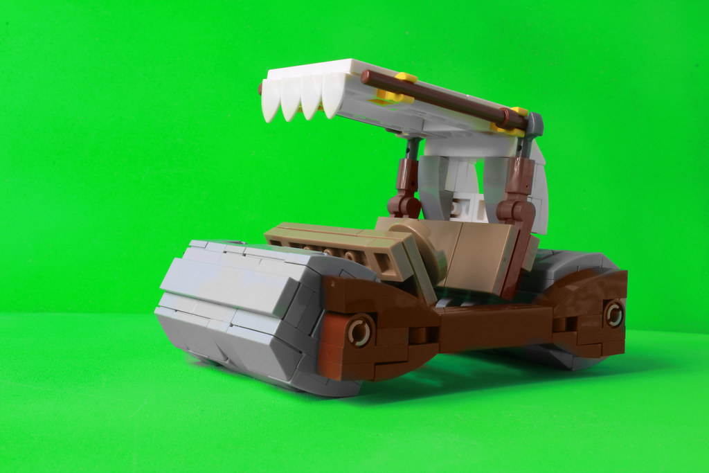 Lego Flintstones car (custom built Lego model)