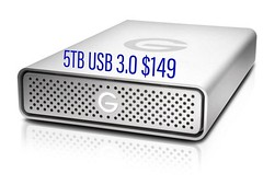 B&H deal of the day. Reliable 5TB drive for just $149! Today Only!  Visit http://photorec.tv/5TB for more info.