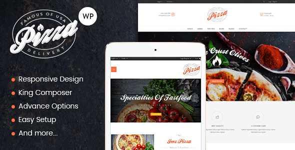 JMS Pizza WordPress Theme free download