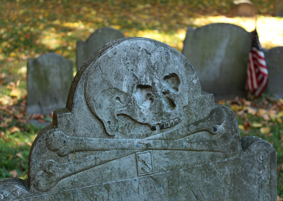 Skull and Crossbones headstone design. Credit Robert Linsdell