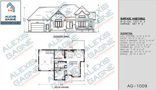 Plan de maison 1 étage avec garage - MM1eG.04