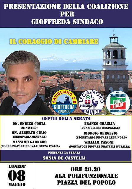 Serata presentazione liste a Savigliano