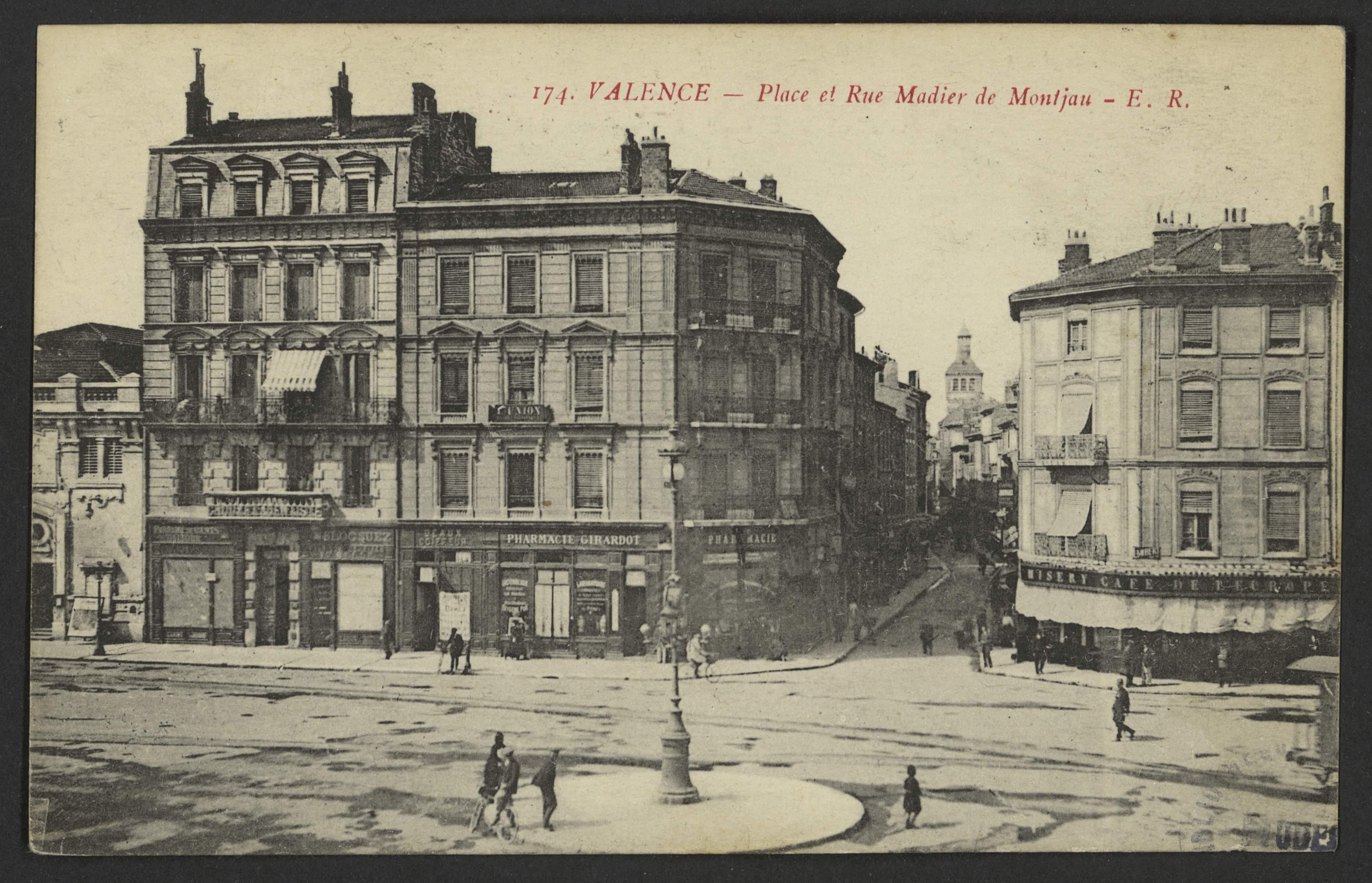 Valence - Place et Rue Madier de Montjau