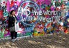 Sue at John Lennon Wall-Prague