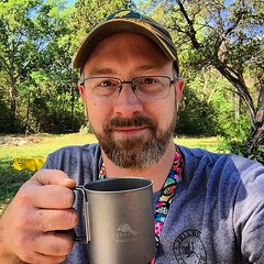 Enjoying my coffee on this beautiful morning at Camp Wisdom.  Waiting my turn to teach the next class. #lnt #bsa