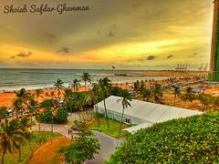 A view from Hotel Tajj Sumdra, Srilanka