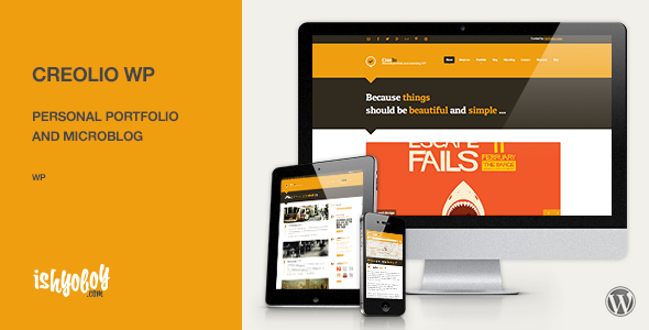 Creolio WP v1.8 - Personal portfolio and microblog
