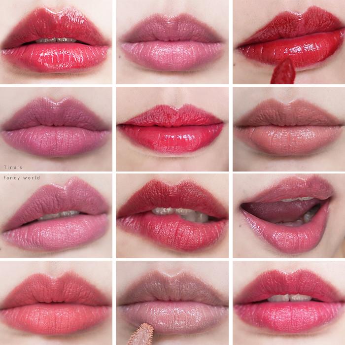 唇膏唇釉試色評比