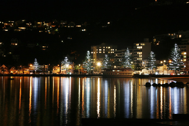 Lighting up Oriental Bay