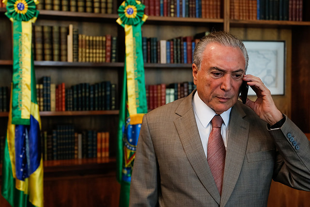 Presidente golpista, Michel Temer - Créditos: Marcos Corrêa/PR