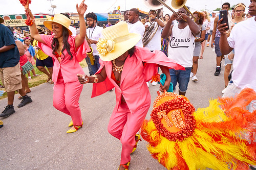 Divine Ladies Parade. Saturday, April 29, 2017 - Jazz Fest Day 2. Photo by Eli Mergel.