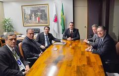25 04 2017 - Reunião com ministro Antônio Imbassahy e com o presidente do Banco do Brasil, Paulo Cafarelli, com deputados da bancada Mineira na Câmara Federal: Marcos Montes, Rodrigo Pacheco e Luiz Fernando