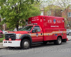FDNY Emergency Crew 22 Fire Vehicle, Eastchester, Bronx, New York City