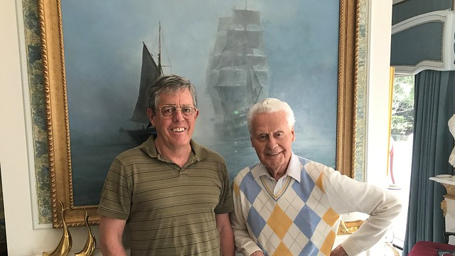 Jim Bredy with Aviation Legend Max Ward 5-12-2017/USFWS