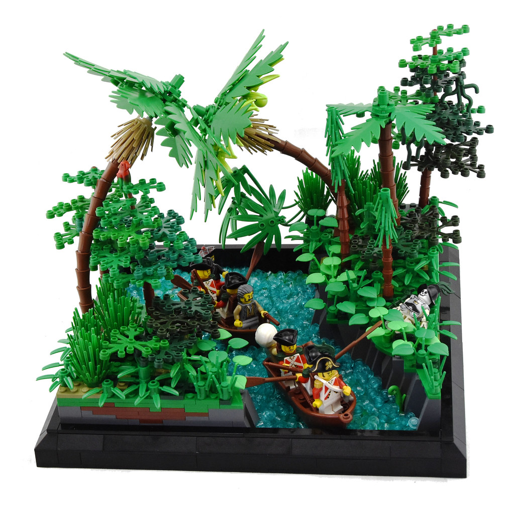 Venturing Up River (custom built Lego model)