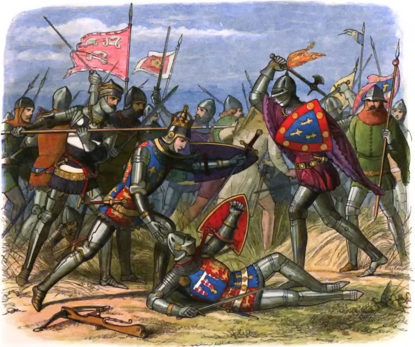 Henry V at the Battle of Agincourt
