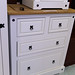 Corona White 2+2 chest of drawers E225