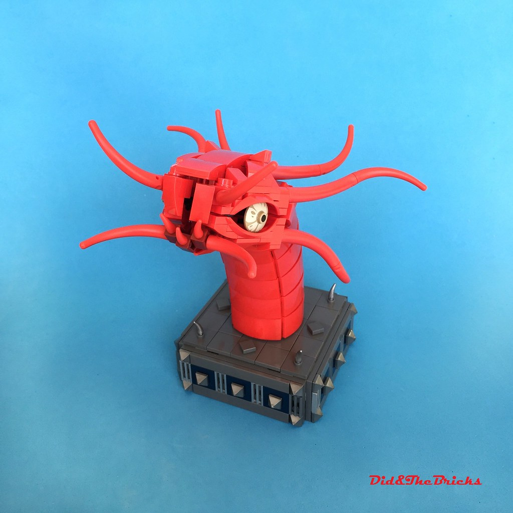 Red Dragon (custom built Lego model)