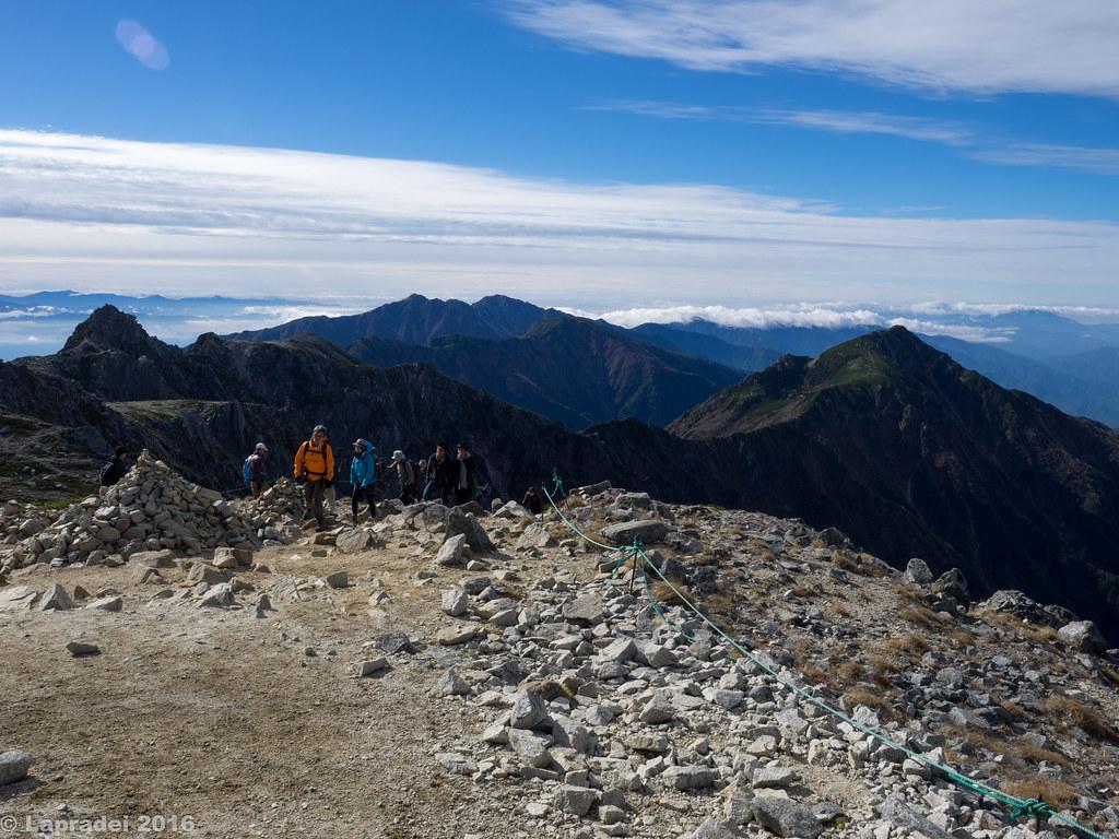 宝剣岳と中央アルプス