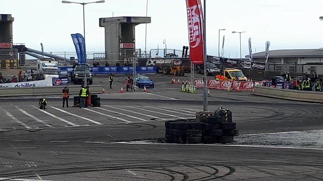 Irish Drift Championship 2017 Round 2 Final Battle Between Jack Shanahan v Chris Brady in The Dunlaoghaire Drift on the Docks .