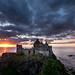 Dunluce Castle Clouds & Sunset