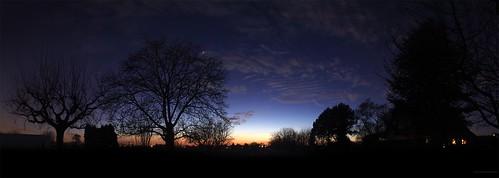 panorama tree trees arbre arbres dusk sunset crepuscule coucher de soleil etoile etoiles star stars planète planàtes planet planets mars venus clouds nuages ombre chinoise hautrhin alsace grand est france europe philippe meisburger 2017