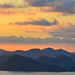Seascape of the islands at sunset in summer