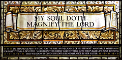 My Soul Doth Magnify the Lord (William Morris workshop, 1937)