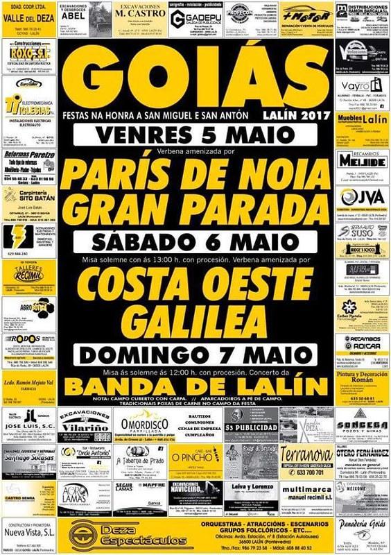 Lalín 2017 - Festas de San Miguel e Santo Antón en Goiás - cartel