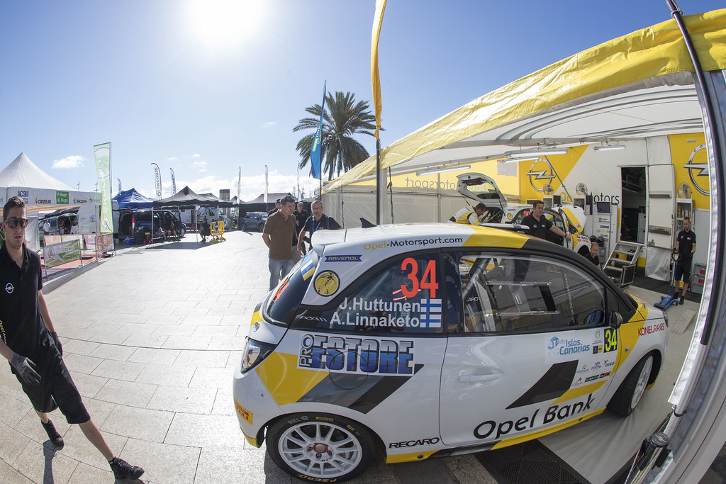 HUTTUNEN Jari (FIN) LINNAKETO Antti (FIN) Opel Adam R2 , ambiance during the 2017 European Rally Championship ERC Rally Islas Canarias, El Corte Inglés,  from May 4 to 6, at Las Palmas, Spain - Photo Gregory Lenormand / DPPI