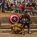 Captain America Eating Lunch by www78