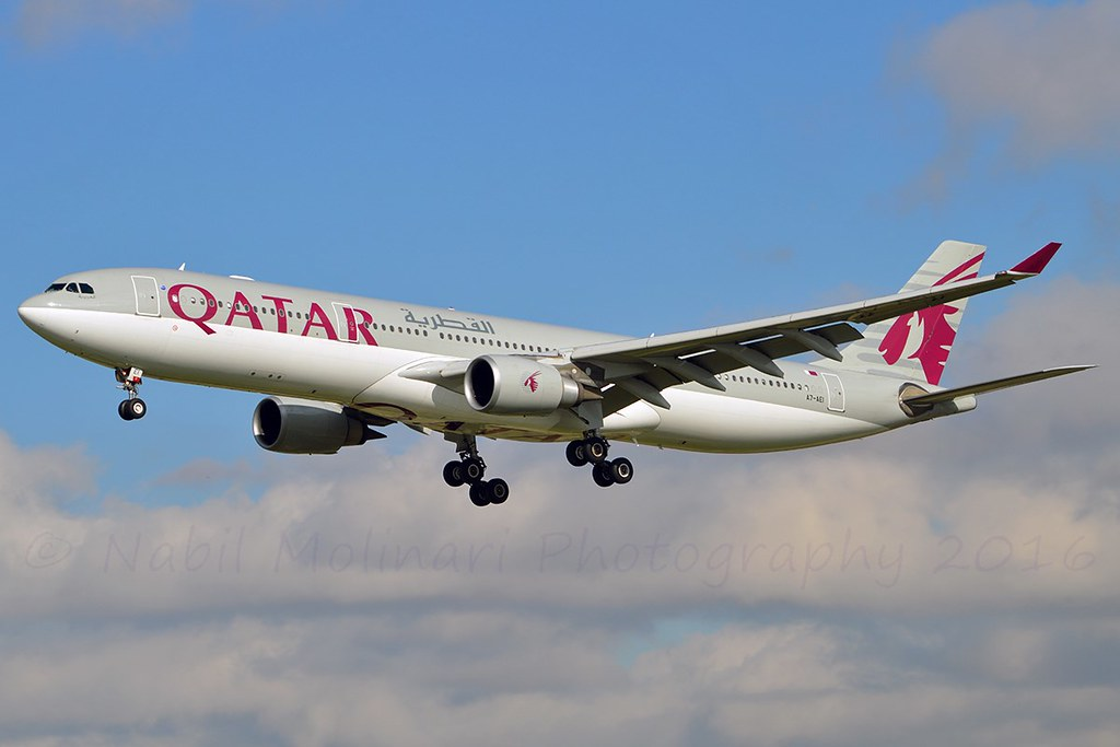 """""""Al Aziziya"""" Qatar Airways A7-AEI Airbus A330-302 cn/813 @ LEBL / BCN 07-11-2016"""