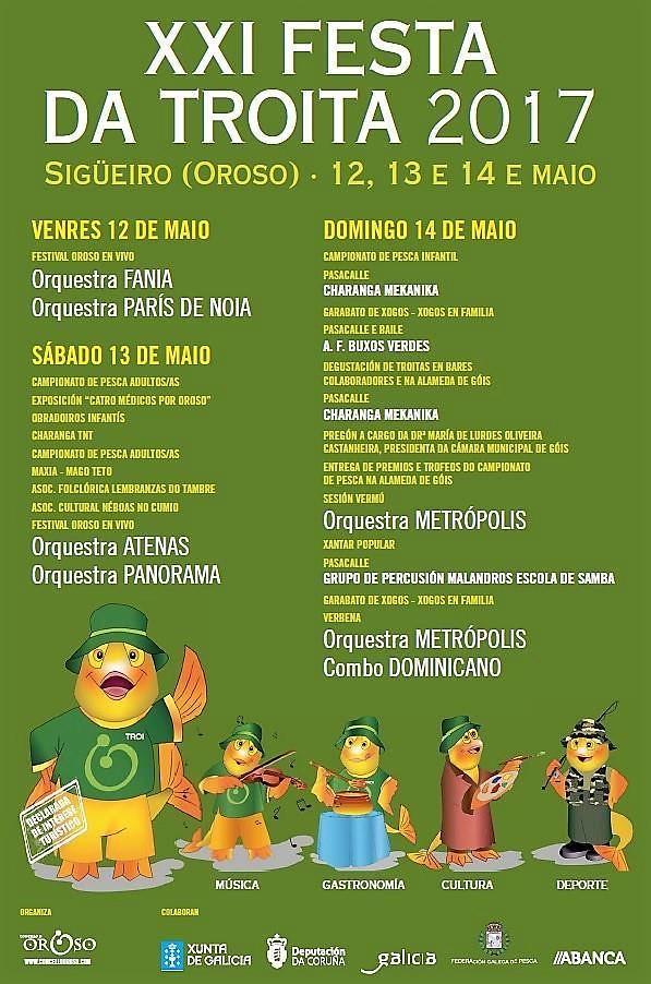 Oroso 2017 - XXI Festa da Troita en Sigüeiro - programación