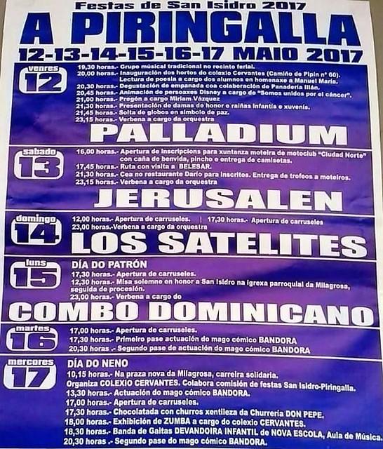 Lugo 2017 - Festas de Santo Isidro Labrador no barrio da Piringalla - cartel